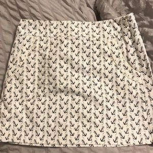 J.Crew skirt with anchor detailing
